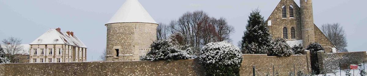 Villeron sous la neige