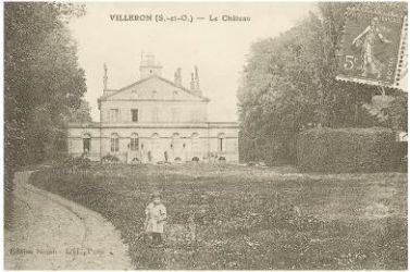 Ancienne carte postale du Château de Villeron